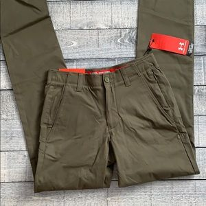 Under Armour Chino Taper Golf Pants Moss Green
